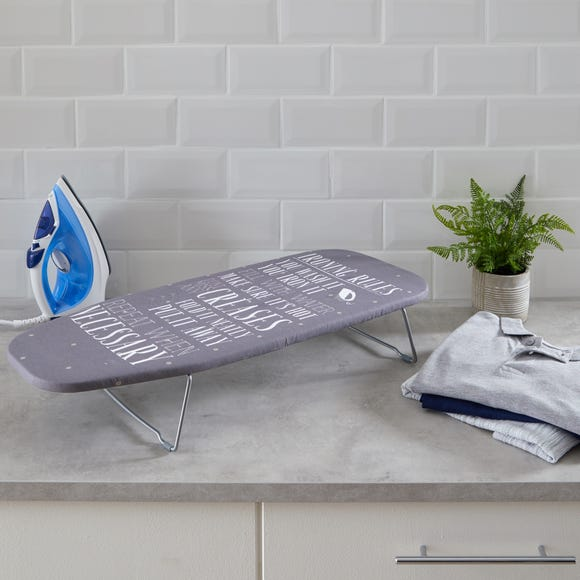 Laundry Rules Tabletop Ironing Board Grey