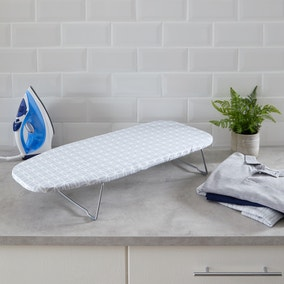 Grey Geometric Tabletop Ironing Board