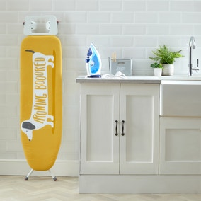 Sausage Dog Ochre Ironing Board Cover