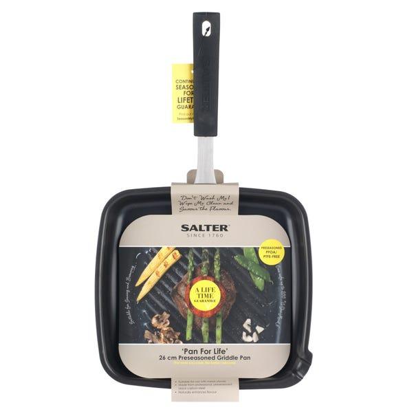 Salter Pan for Life 26cm Griddle Pan Black