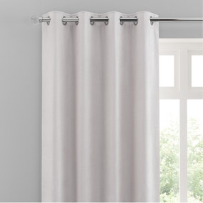 Chenille Cloud Eyelet Curtains