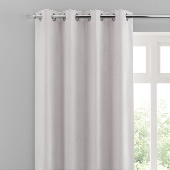 Chenille Cloud Eyelet Curtains White undefined