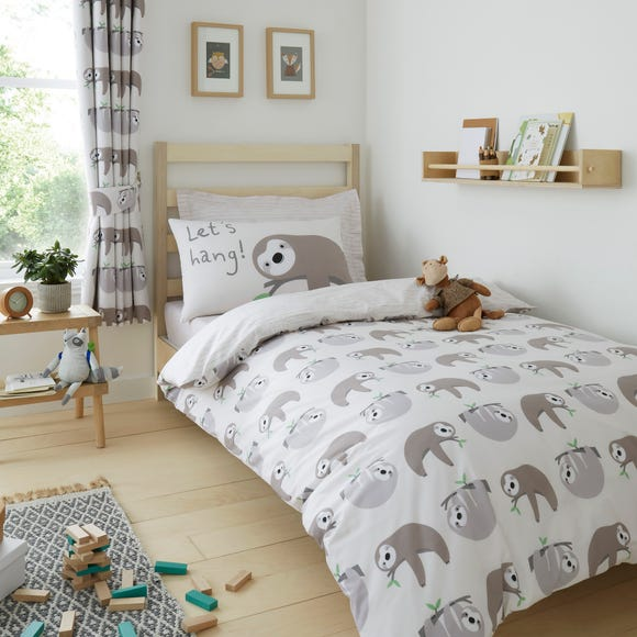 Sloth Duvet Cover and Pillowcase Set  undefined