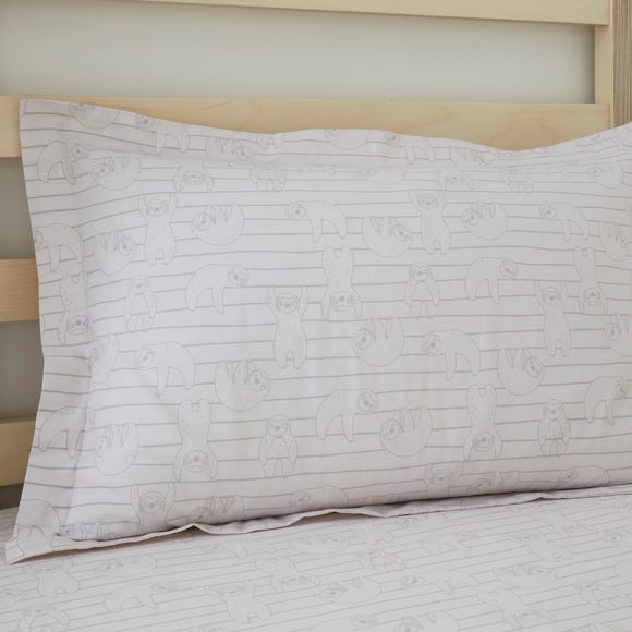 Sloth Oxford Pillowcase Natural