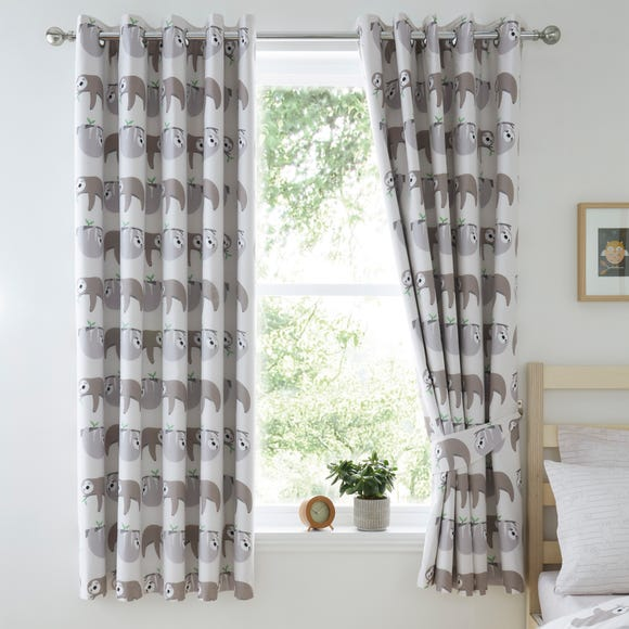 Sloth Blackout Eyelet Curtains Natural undefined
