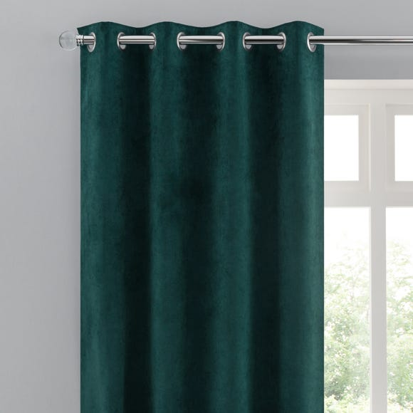 Margot Jade Matt Velour Eyelet Curtains Jade (Green) undefined