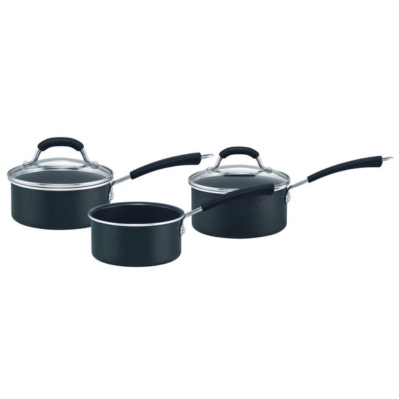 Prestige Diamond Induction 3 Piece Pan Set Black