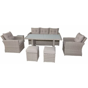 Lisbon 7 Seater Deluxe Sofa Dining Set