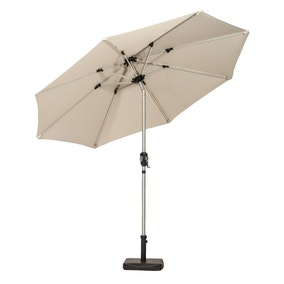 Aluminium 2.7m Crank and Tilt Parasol with LED Strip Lights