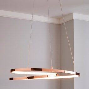 Menton Integrated LED Swirl Copper Ceiling Fitting