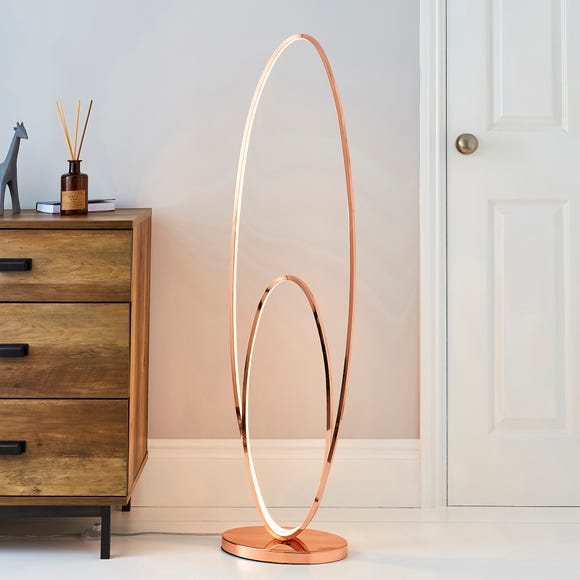 Menton Integrated LED Copper Floor Lamp Copper