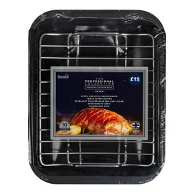 Dunelm Professional 36cm Roasting Tin with Rack