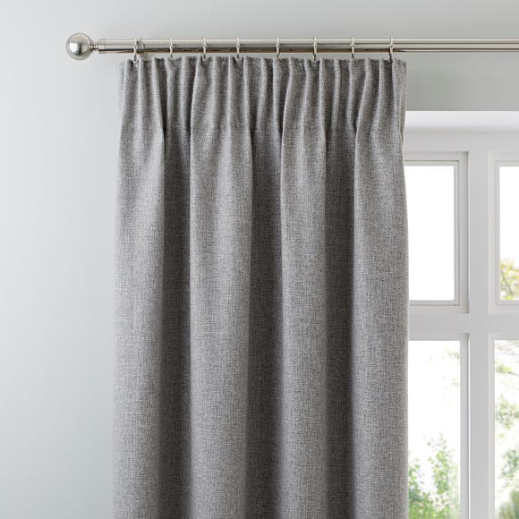Jennings Grey Thermal Pencil Pleat Curtains  undefined