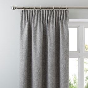 Jennings Grey Thermal Pencil Pleat Curtains