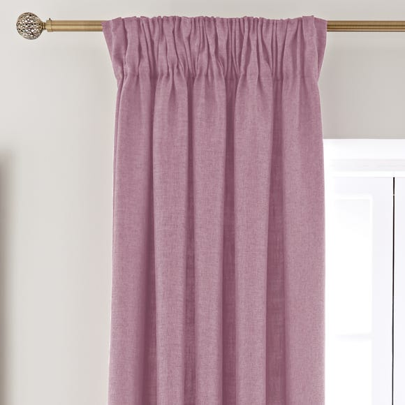 Vermont Pink Pencil Pleat Curtains  undefined