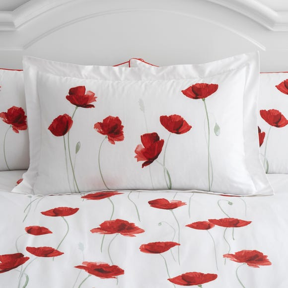 Poppy Trail Red Oxford Pillowcase Red