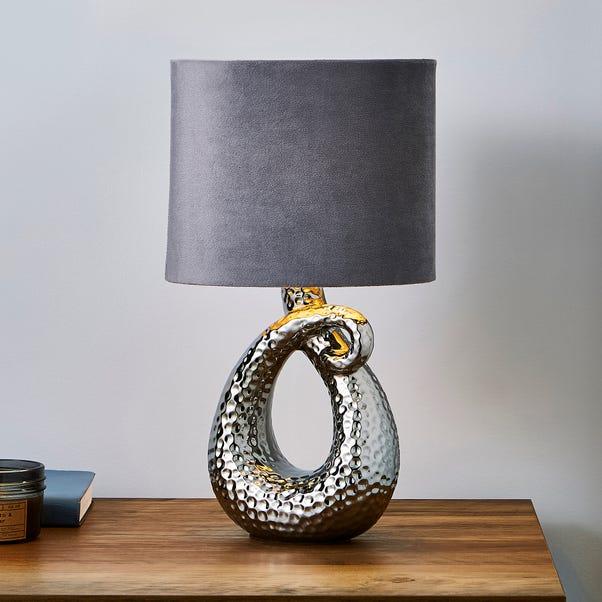 Sidney Ceramic Chrome Table Lamp Silver