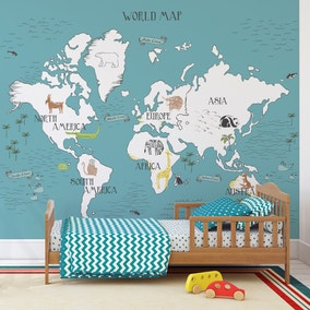 My World Map Mural