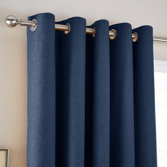 Jennings Navy Thermal Eyelet Curtains Navy undefined