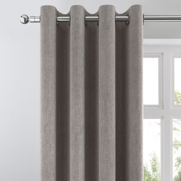 Cloudmont Chenille Charcoal Thermal Eyelet Curtains  undefined