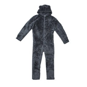 Teddy Bear Charcoal Onesie
