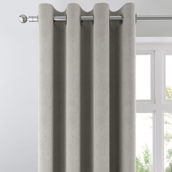 Ohio Silver Woven Thermal Eyelet Curtains Silver undefined