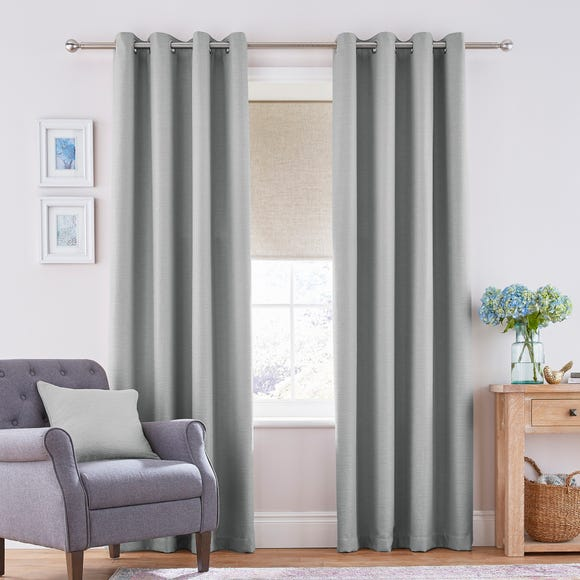 Henley Seafoam Eyelet Curtains  undefined
