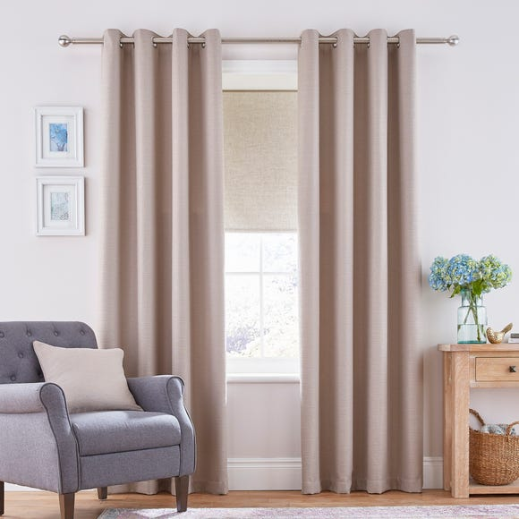 Henley Natural Eyelet Curtains Natural undefined