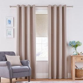 Henley Natural Eyelet Curtains