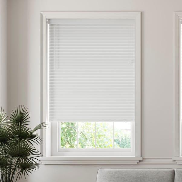 50mm Slats Room Darkening White Venetian Blind  undefined