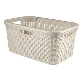 Curver 45 Litre Rattan Laundry Basket