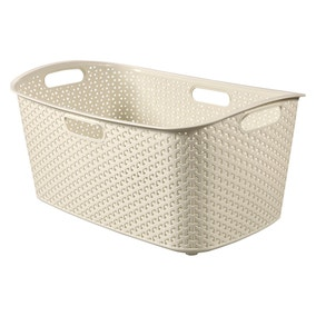 Curver My Style Cream 50 Litre Laundry Basket