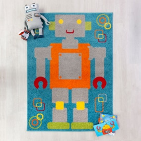 Multicoloured Robot Rug