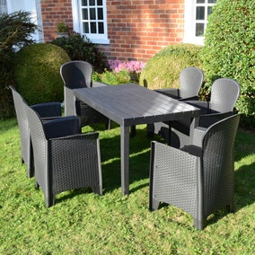 Trabella Roma 6 Seat Dining Set with Sicily Chairs