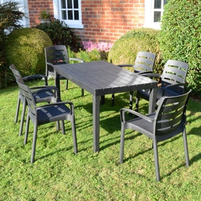 Trabella Roma 6 Seater Dining Set with Siena Chairs
