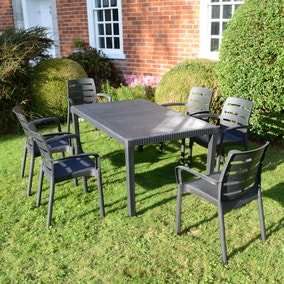 Trabella Salerno 6 Seat Dining Set with Siena Chairs
