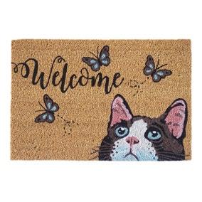 Cat Butterfly Doormat