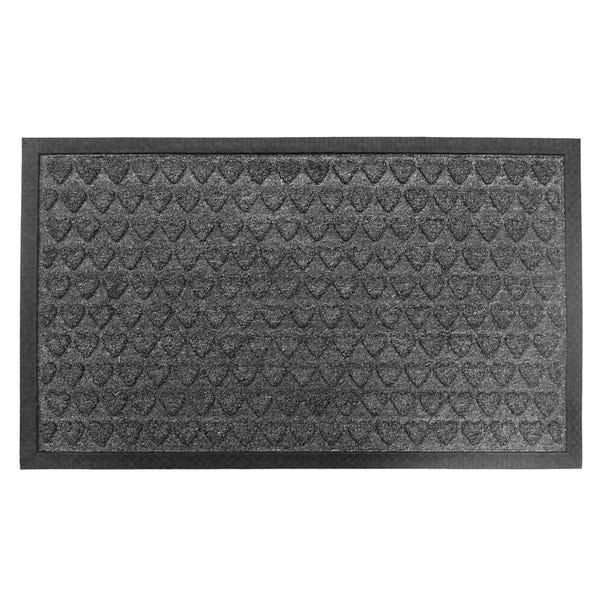 Heart Doorguard 45x75cm Grey