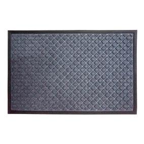 Diamond Textured Grey Doormat