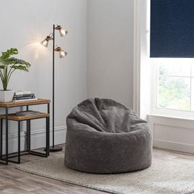 Jenson Charcoal Bean Bag Chair