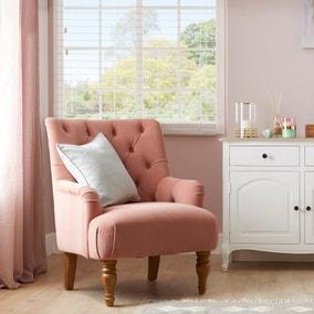 Arianna Velvet Chair - Rose