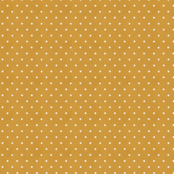 Dotty Ochre Fabric