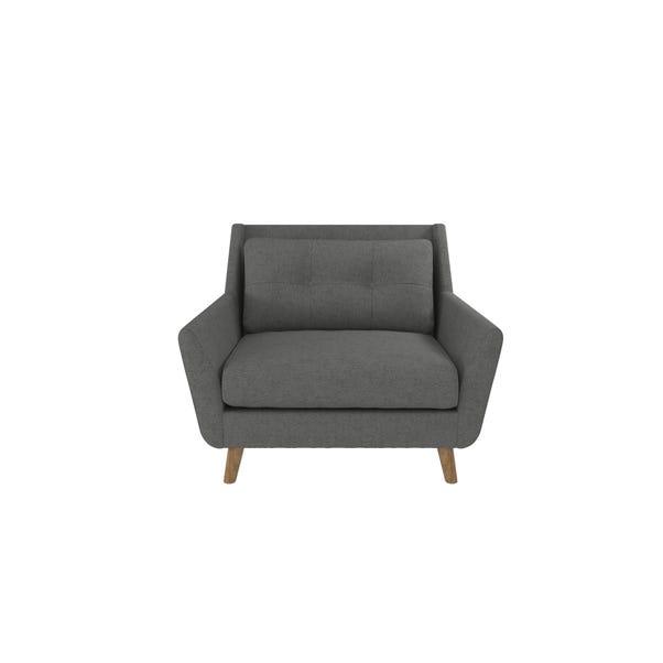 Halston Fabric Snuggle Chair Grey