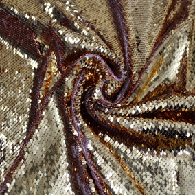 Sequin Gold Tulle Fabric