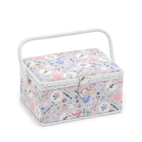 Rectangular Homemade Print Sewing Box