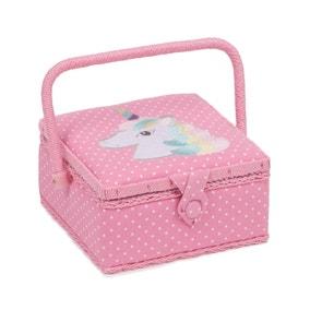 Embroidered Unicorn Sewing Box
