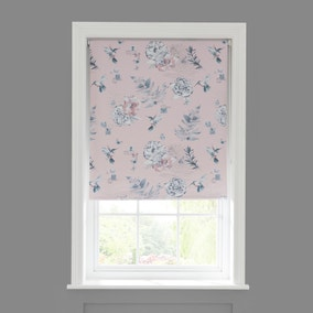Heavenly Hummingbird Blush Blackout Roller Blind