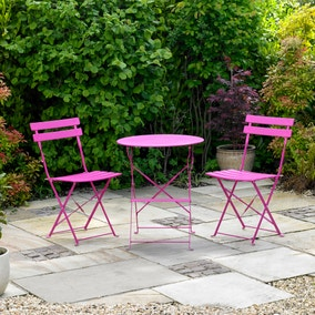 Kingfisher Pink Metal 2 Seat Bistro Set