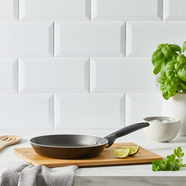 Dunelm Essentials Aluminium 20cm Frying Pan Black