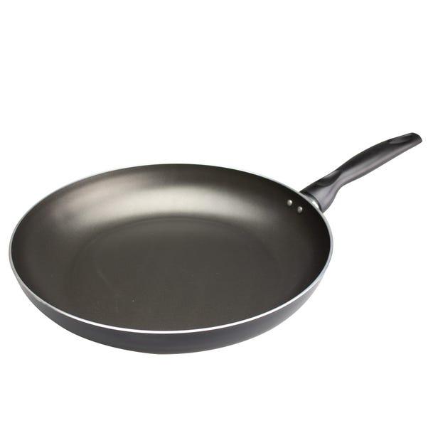 Dunelm Essentials Aluminium 32cm Frying Pan Black